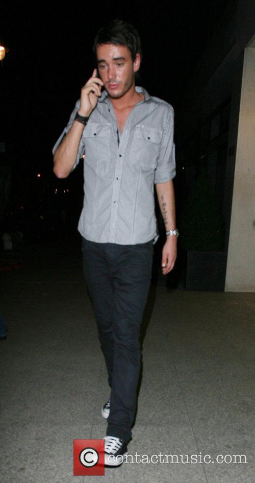 Jack Tweedy leaving the Embassy Club London, England