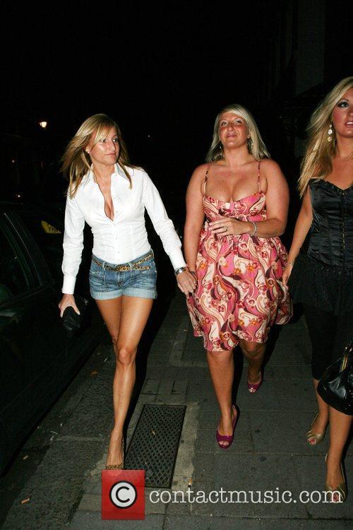 Joanne Beckham outside Embassy Nightclub