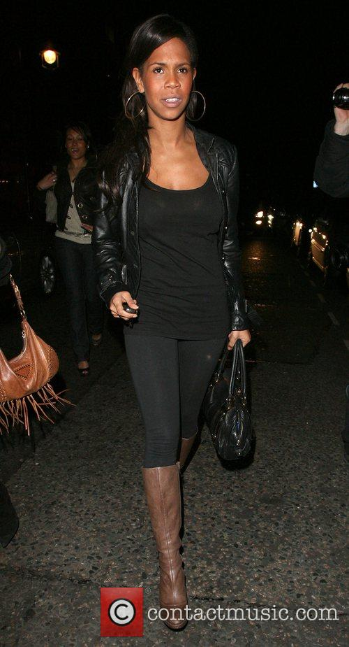 Charley Uchea leaving the Embassy Club. London, England