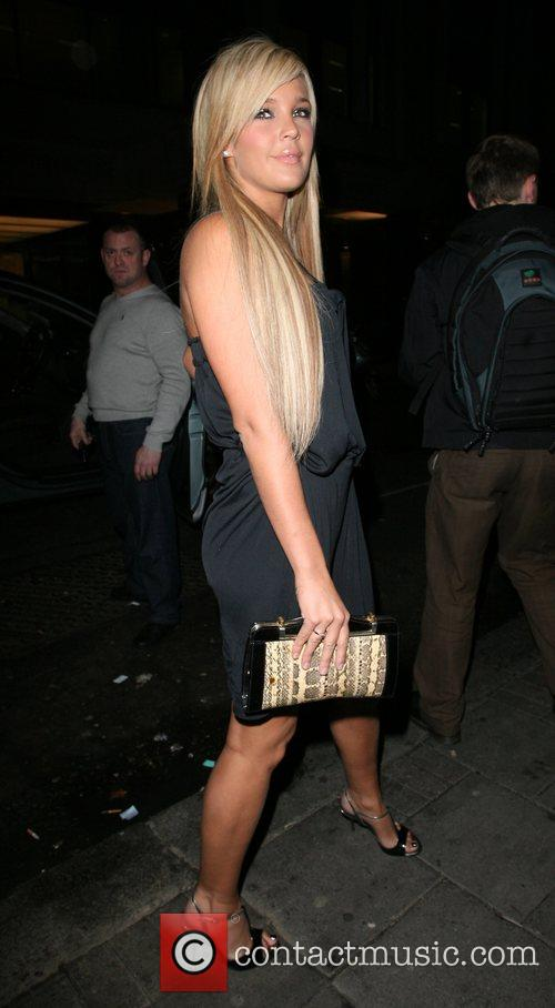 Danielle Lloyd,  leaving the Embassy Club London,...