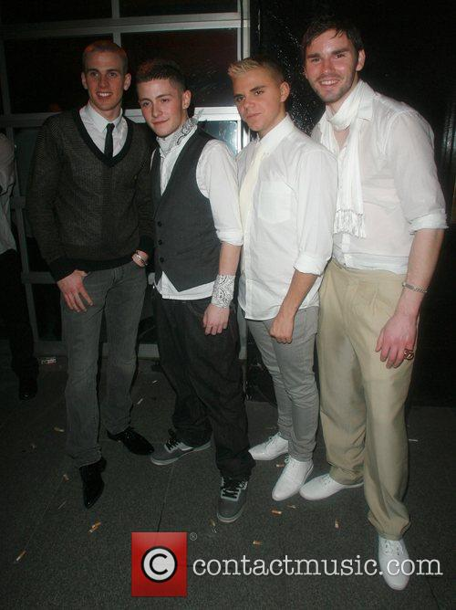 X Factor boy band at the Embassy Club...