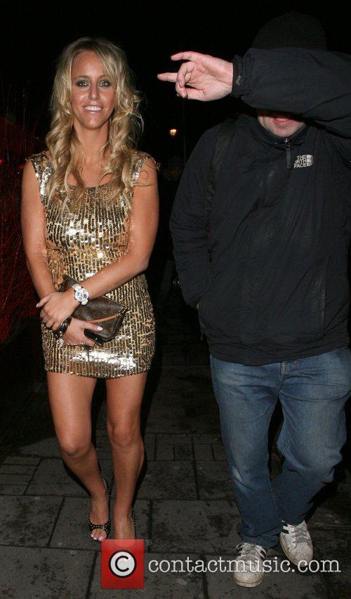 Danielle Mason and mystery man leaving the OK...