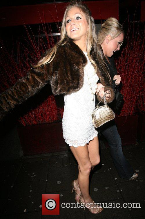 Nikki Grahame leaving the OK Magazine New Year...