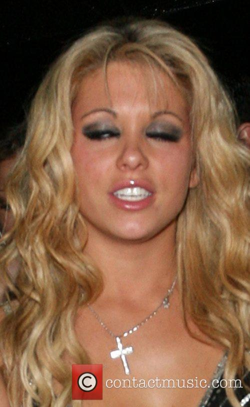 Bianca Gascoigne Leaving the Embassy Club with friends...