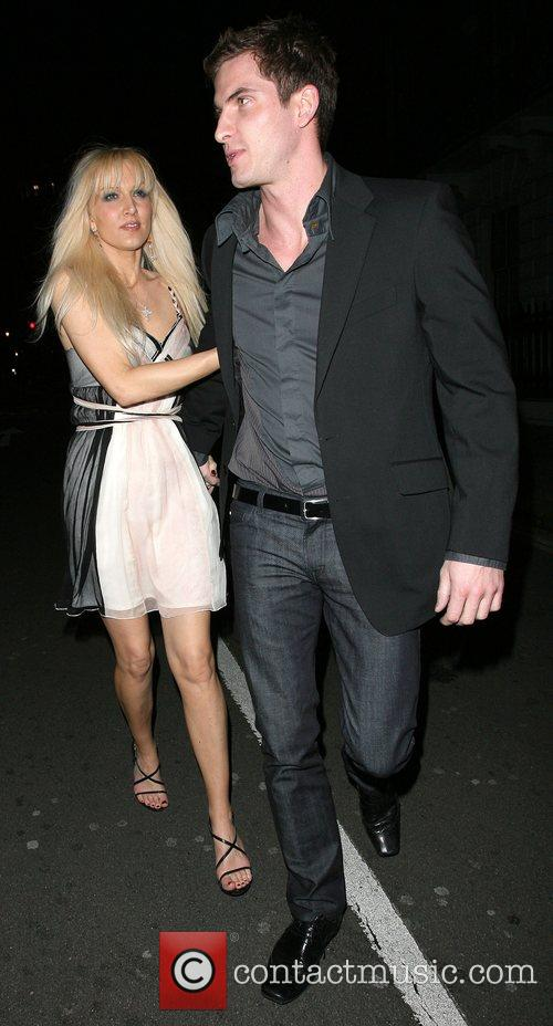 Emma Noble leaving Aura nightclub with a mystery...
