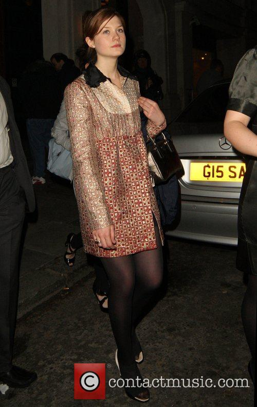 Bonnie Wright leaving Emma Watson's 18th birthday party...