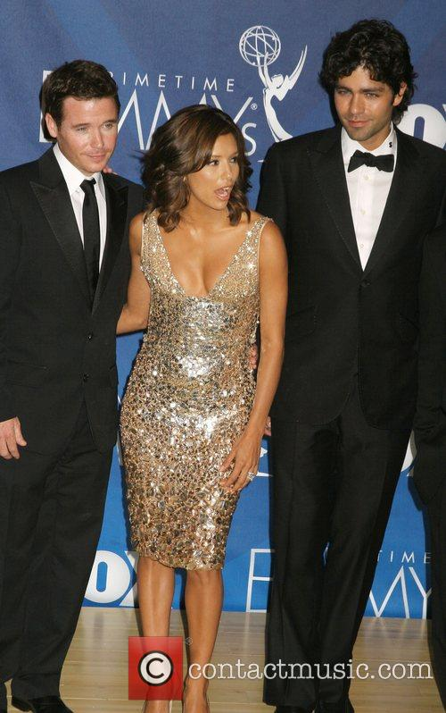 Kevin Connelly, Eva Longoria and Adrian Grenier The 59th...