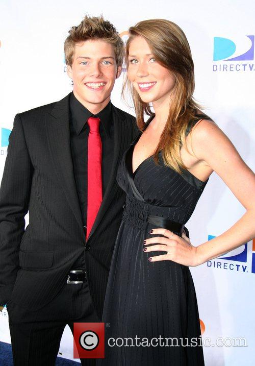 Hunter Parrish and Allison Tyler DIRECTV's 100 HD...