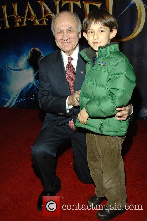 NYC Fire Commissioner Nicholas Scarpetta and his grandson...