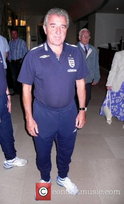 Terry Venables Members of the England football team...