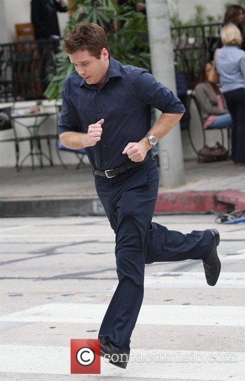 Kevin Connolly at the film set for HBO's...