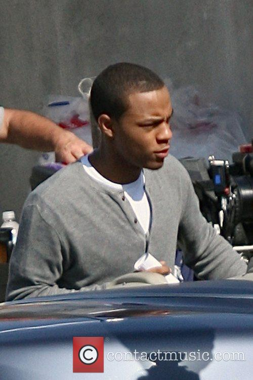 Bow Wow on the film set for HBO's...