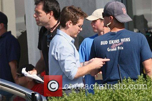 Kevin Connolly on the film set for HBO's...
