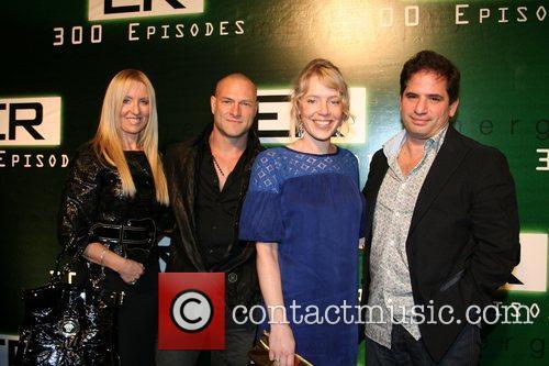 David Zabel, Scott Gemmill and wives 'ER' celebrates...