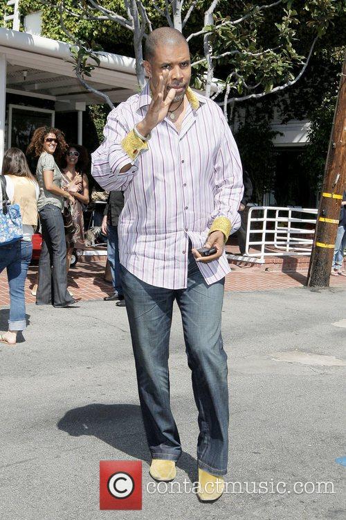ER actor Eriq La Salle leaving Fred Segal...