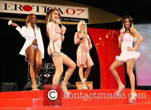 At a fashion show at 'Erotica 2007'