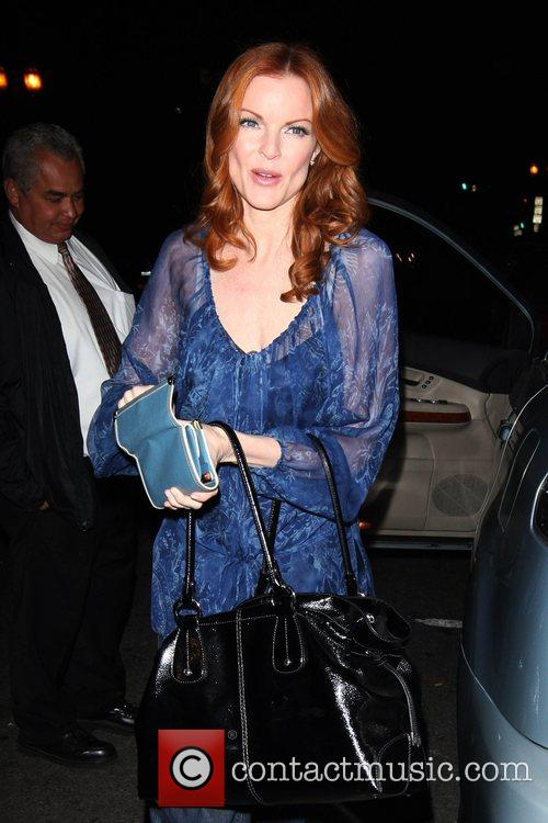 Arriving at Eva Longoria's birthday party at Beso...