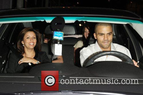 Eva Longoria and her husband Tony Parker leaving...