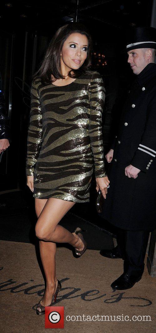 Eva Longoria outside Claridges Hotel