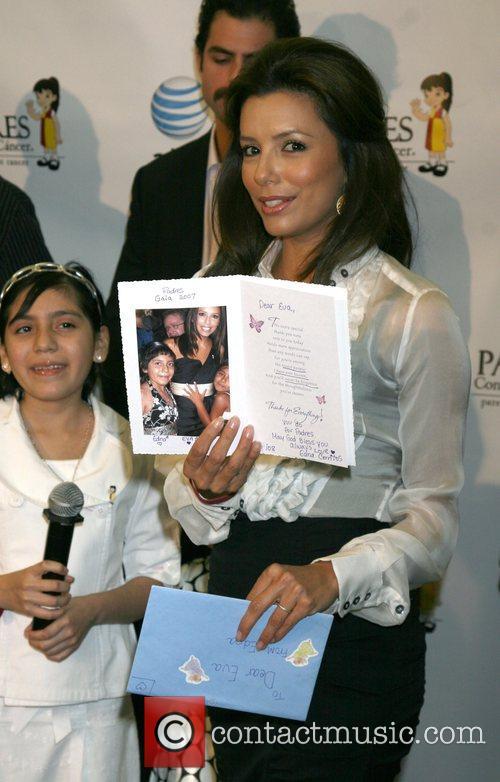 Eva Longoria Parker and Edna Cerritos of the...