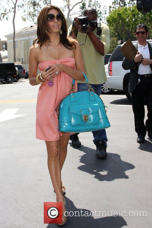 'Desperate Housewives' star Eva Longoria Parker leaving an...