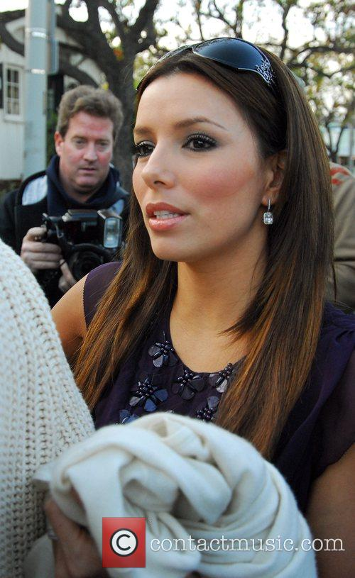 Eva Longoria  leaving the Ken Paves hair...