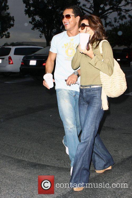 Eva Longoria Parker and Mario Lopez share a...