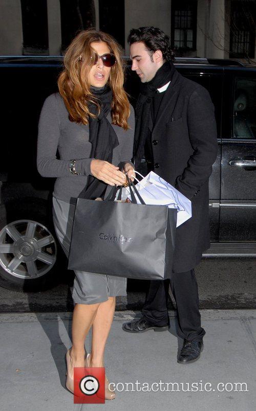Eva Mendes arrives at her Manhattan hotel