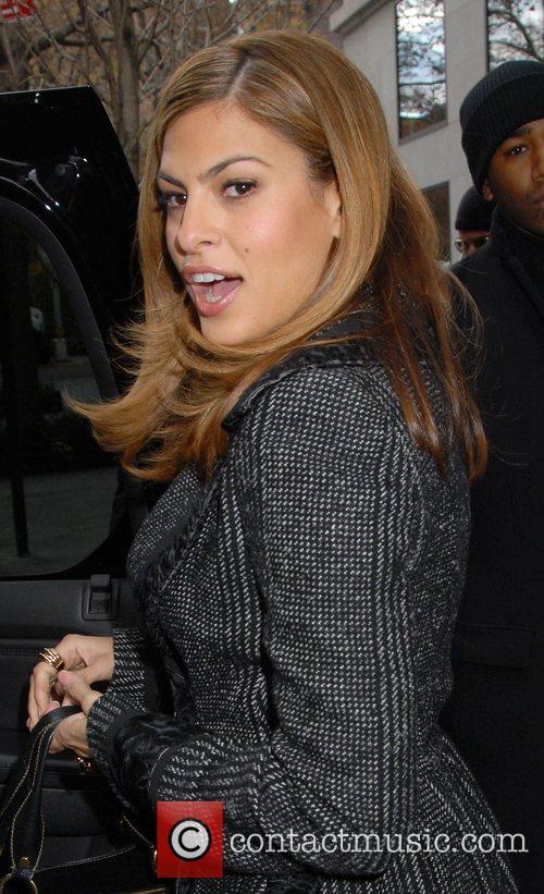 Eva Mendes leaving her hotel in midtown Manhatten