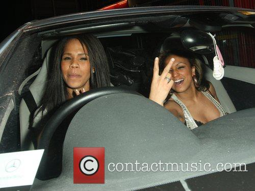 Charley Uchea and Sisi Jghalef Outside Faces Nightclub In Gants Hill