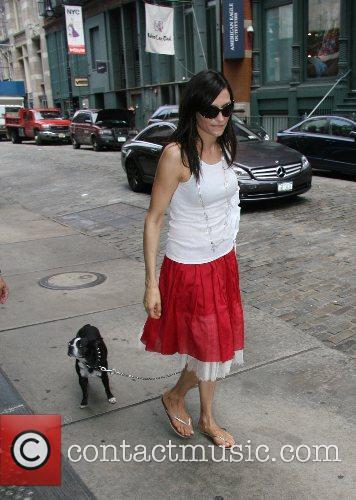 'X-Men' actress Famke Janssen takes her dog, Licorice,...