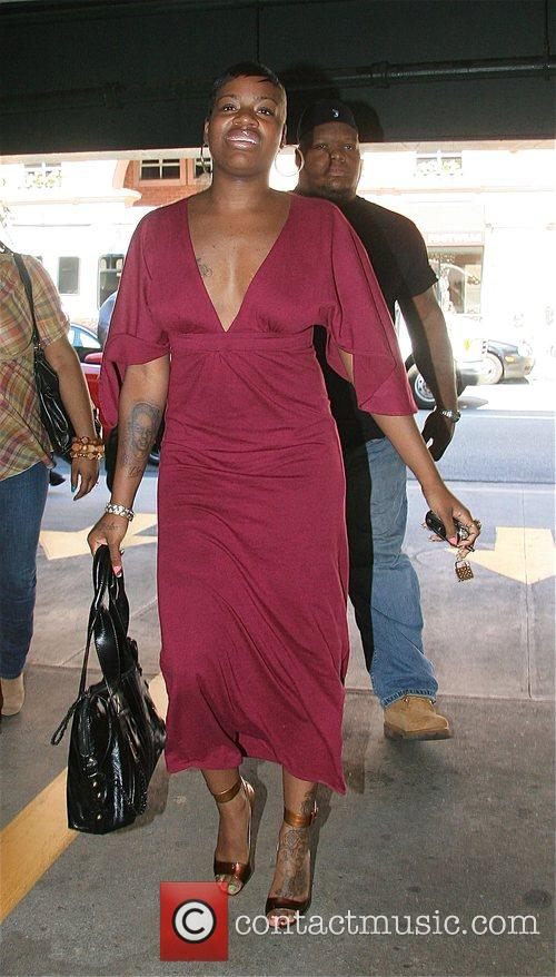 Fantasia Barrino leaving a medical building in Beverly...