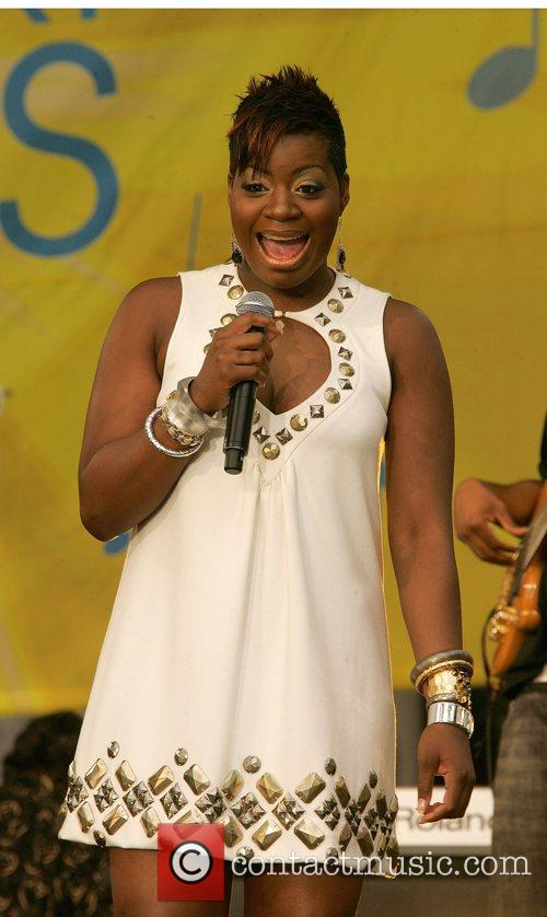 Fantasia Barrino performs live on ABC's Good Morning...