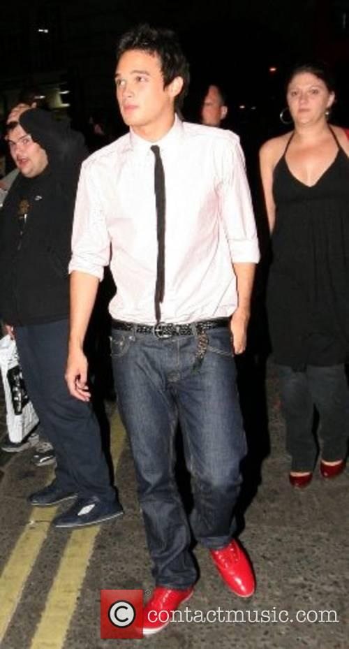 Gareth Gates leaving the 'Fantastic Four' after party...
