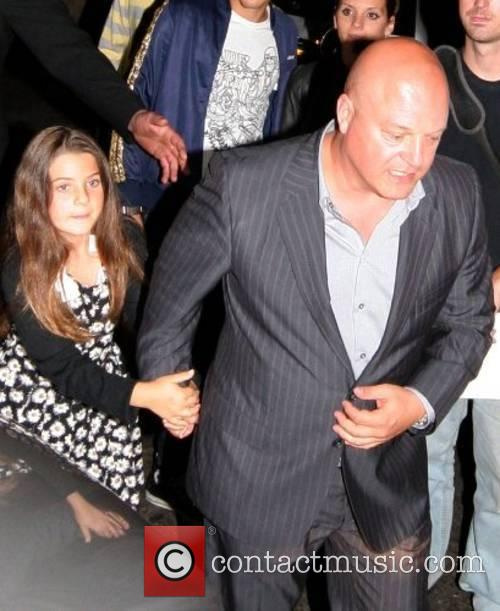 Michael Chiklis and daughter leaving the 'Fantastic Four'...