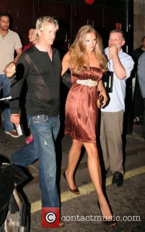 Jodi Albert and Kian Egan leaving the 'Fantastic...