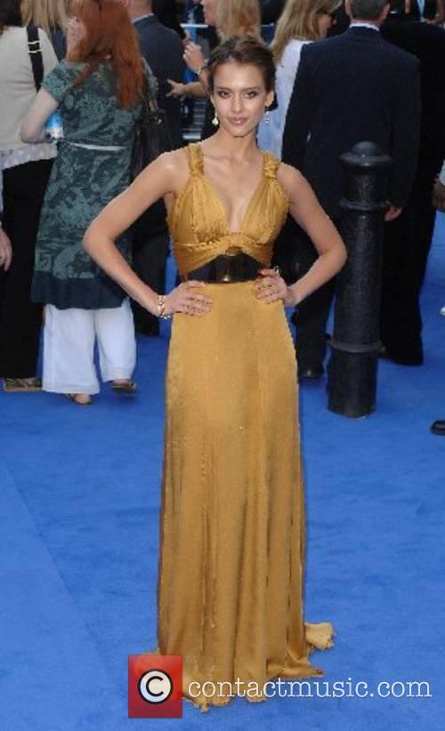 Jessica Alba World premeire of 'Fantastic 4 Rise...
