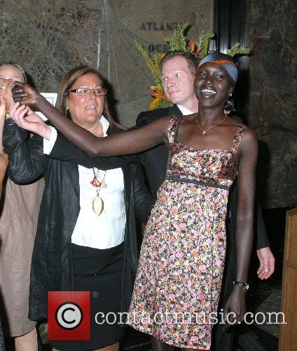 Fern Mallis, Alek Wek Mercedez-Benz Fashion Week lighting...