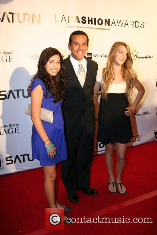 Mayor Anthony Villaraigosa and daughter Natalia with friend...