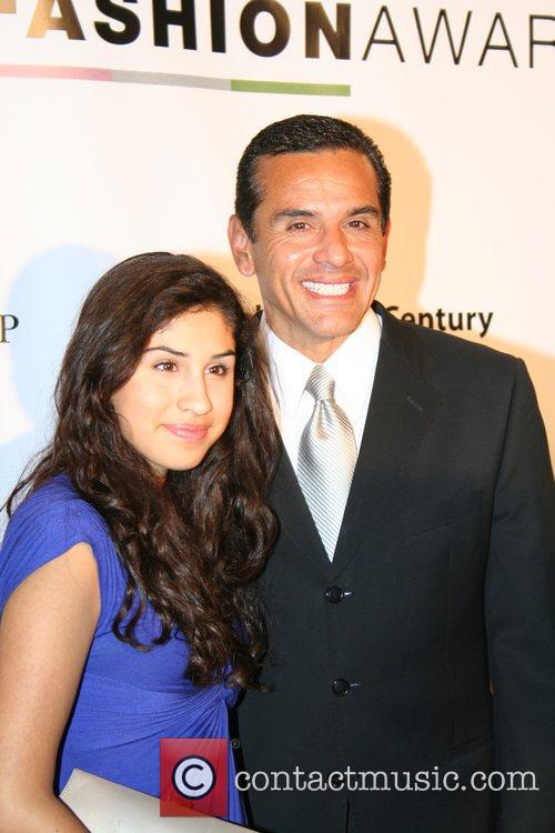 Mayor Anthony Villaraigosa and daughter Natalia 2007 LA...