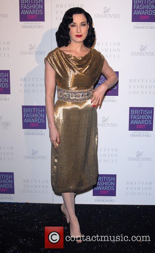 Dita Von Teese British Fashion Awards held at...