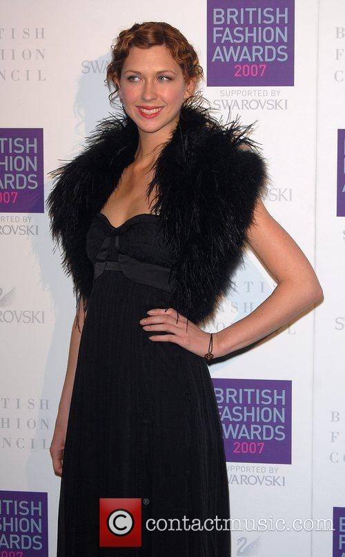 Margo Stilley British Fashion Awards held at the...