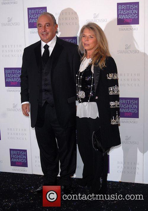 Philip Green, Christina Green British Fashion Awards held...