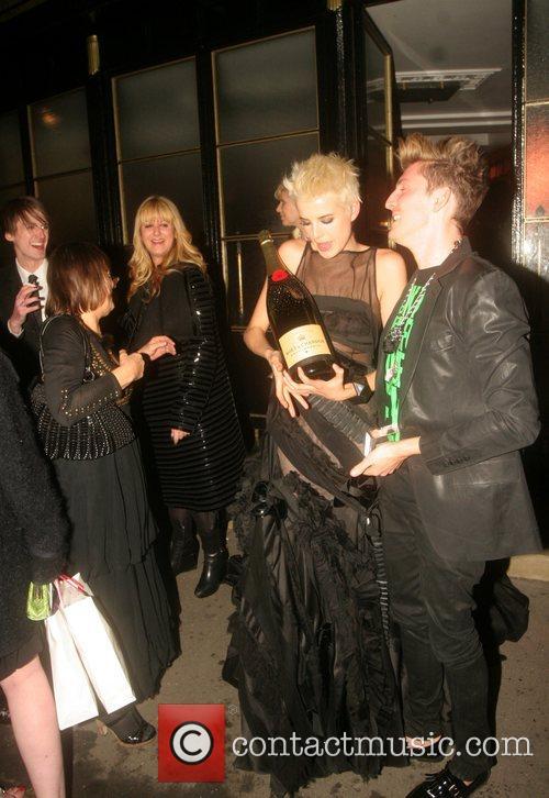 Agyness Deyn and guests British Fashion Awards held...