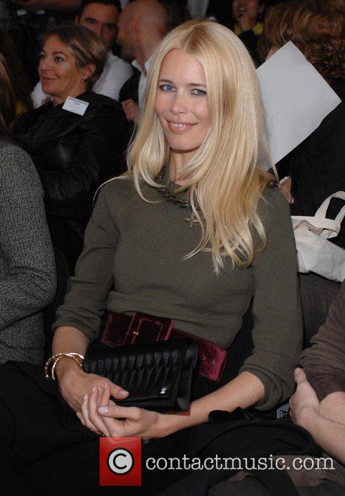 Claudia Schiffer London Fashion Week Spring/Summer 2008 -...
