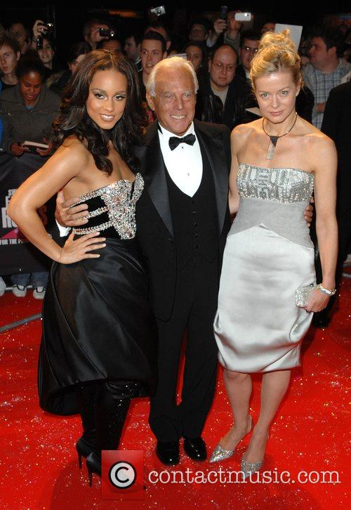 Alicia Keys, Giorgio Armani and Lady Helen Taylor 1