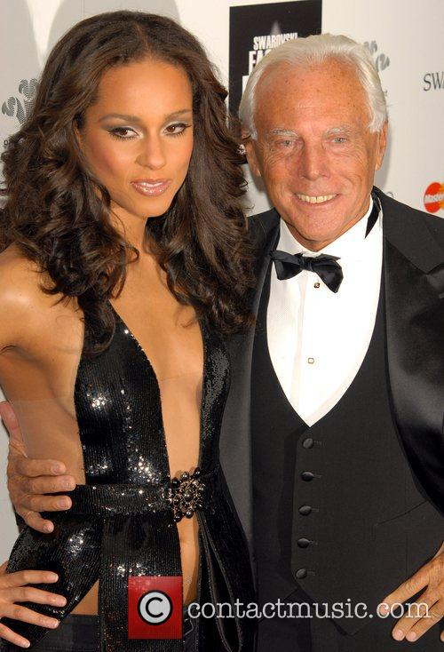 Alicia Keys and Giorgio Armani 1