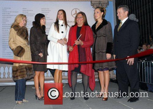 Mercedes-Benz Fashion Week Fall 2008 ribbon cutting ceremony...