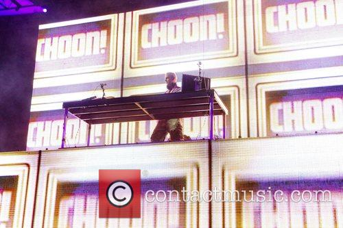 Fatboy Slim performing at the Coachella Music festival...