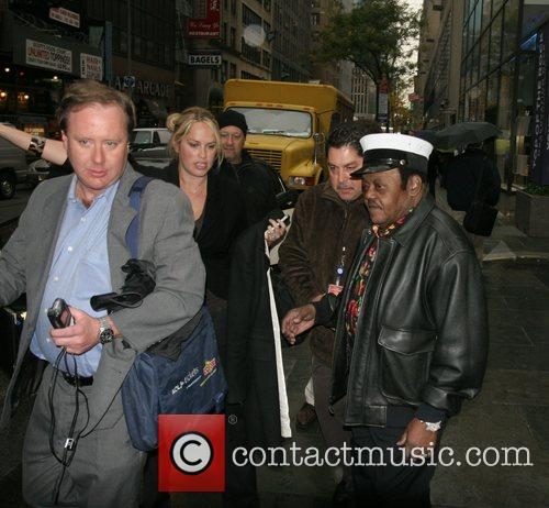 Fats Domino leaving Rockefeller Plaza after an appearance...